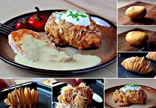 ایده های تزیین در آشپزیpotato1